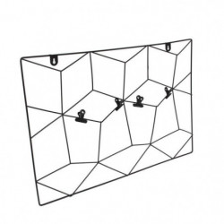 THE HOME DECO FACTORY Pele-mele filaire - Zigzag - 4 Pinces
