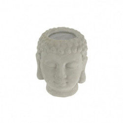 THE CANDLE FACTORY Photophore Buddha - 7,5 x 8 x 9,5 cm - Gr