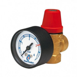 DIPRA Soupape de sûreté avec manometre FF15/21 - tarée a 3ba