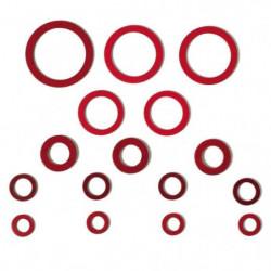WIRQUIN Coffret de 16 joints fibre JVP1002C - 6 formats