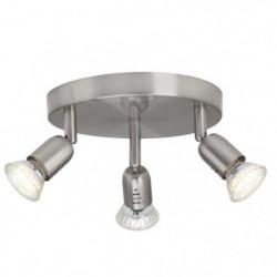 Plafonnier LED a 3 lumieres Loona 3xGU10 3W acier