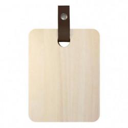 ECO DESIGN A1504 Planche a découper avec laniere cuir 15 x 2