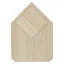 ECO DESIGN A1422 Planche a découper - Bois brut - 17,5 x 25