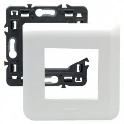 LEGRAND Plaque support fixation a vis 2 modules Mosaic blanc