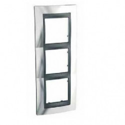 SCHNEIDER ELECTRIC Plaque 3 postes Unicatop en aluminium lis