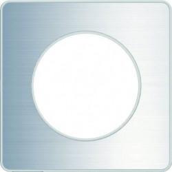SCHNEIDER ELECTRIC Plaque 1 poste Odace Touch aluminium bros