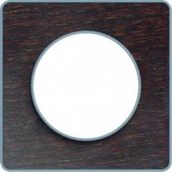 SCHNEIDER ELECTRIC Plaque 1 poste Odace Touch bois liseré al