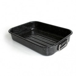 BEKA Plat a four Kitchen Roc - 36 x 25 cm - Noir