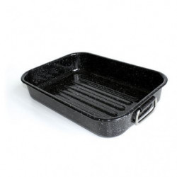 BEKA Plat a four Kitchen Roc - 40 x 29 cm - Noir