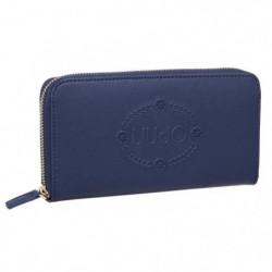 LIU-JO Portefeuille zip N16229E0140 Bleu Femme