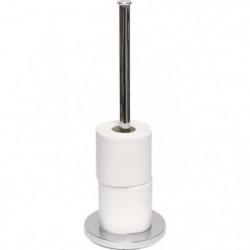 Réserve papier toilette - Métal - H42 x Ø15 cm - Chrome