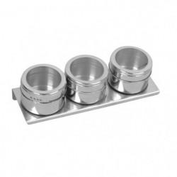 Lot 3 boîtes a épices magnétiques EQUINOX