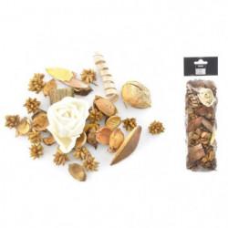 Pot pourri 140 g - 8x30x5 cm - Parfum monoi - Blanc