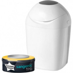TOMMEE TIPPEE Sangenic Poubelle a Couches TEC - Blanche