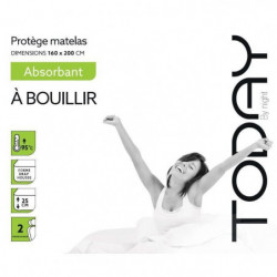 TODAY Protege Matelas / Alese Absorbant a Bouillir 160x200cm