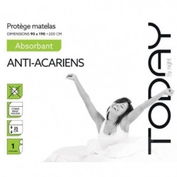 TODAY Protege Matelas / Alese Absorbant Anti-Acariens 90x190
