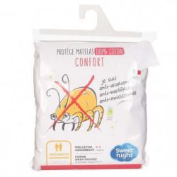 SWEETNIGHT Protege-matelas CHLoe AEGIS 100% coton anti-acari