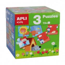 APLI Cube 3 puzzles différents
