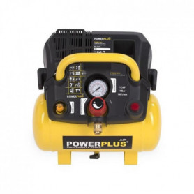 POWERPLUS Compresseur - 6 L - 8 bar - 1,5HP - 1100