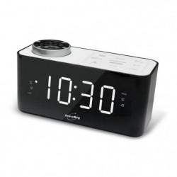 INOVALLEY RV18 Radio réveil projecteur - Blanc