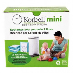 KORBELL MINI Pack de 3 recharges 9L
