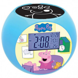 LEXIBOOK - PEPPA PIG - Radio Réveil Enfant avec Projections