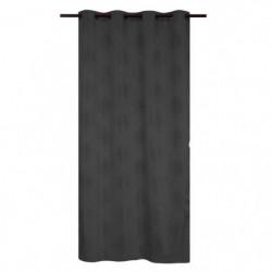 Rideau occultant thermique a oeillet - Noir - 140 x 260cm