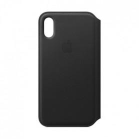 Étui folio en cuir pour iPhoneXS - Noir