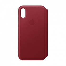 Étui folio en cuir pour iPhone XS - (PRODUCT)RED