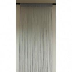 BRISE Rideau de Fils Mercerisés - Gris - H 90 x L 240 cm