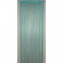 BRISE Rideau de Fils Mercerisés - Bleu Turquoise - H 90 x L