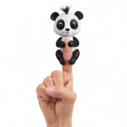 FINGERLINGS bébé Panda Drew - Robot intéractif - Noir et bla