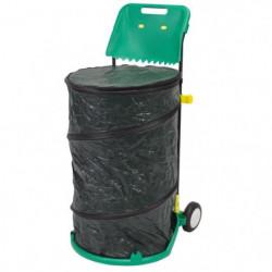NATURE Trolley pour déchets de jardin tout en 1 : poubelle m
