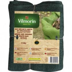 VILMORIN Sac déchet en jute - 110 L -  Vert