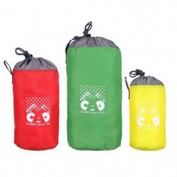 CAO CAMPING Lot de 3 sacs rangements - Rouge, vert et jaune