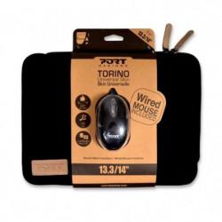 Housse Ordinateur Portable 13'3 + Souris Optique - TURIN - P