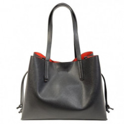 KINSTON Sac Shopping Black and Chic Noir Femme