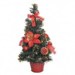 Sapin de Noël artificiel - 40 cm - Rouge