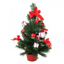 Sapin de Noël artificiel avec Boîtes-cadeaux et Pommes de pi