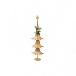 Sapin de Noël Artificiel Doré en Bois 60 cm