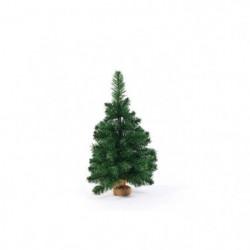 Sapin de Noël artificiel - H 60 cm - Vert - Avec pied ciment