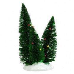 Décor de Noël 3 Sapins éclairage clignotant multicolore a pi