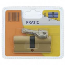 BRICARD PRATIC 1448 Cylindre 35+35 mm en laiton double entré