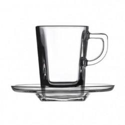PASABAHCE Lot de 6 tasses  en verre trempé Expresso - 7 cl -