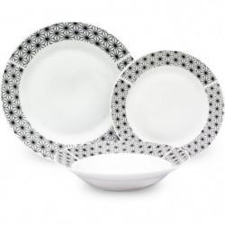 Service de Table 18 pieces en porcelaine formes géométriques
