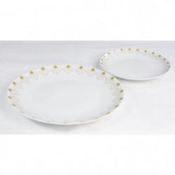 INSEA Service de table 12 pieces - Blanc