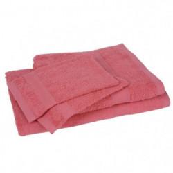 Lot de 1 drap de bain + 1 serviette + 2 gants ELEGANCE corai