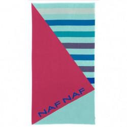 NAF NAF Drap de plage CLEY - 100% Coton - Multicolore - 80 x