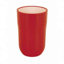 COCCO Gobelet salle de bain - 11,5 x 7,5 x 7,5 cm - Rouge