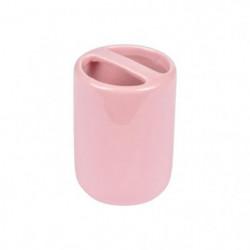 Gobelet porte-brosse a dents céramique Rose poudré